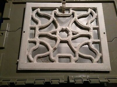 """Antique cast iron Style Heating Vent / Grate - Architectural Salvage 12"""" x 13.5"""""""