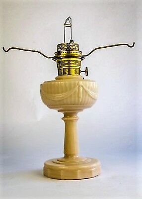 Tall Aladdin Alacite Lincoln Drape Kerosene Lamp With Spider