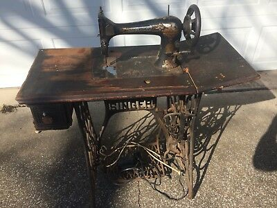 Antique Singer Sewing Machine Base and parts