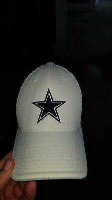 27b50dd11 Dallas Cowboys NFL Nike Energy XC Swoosh Flex Hat Cap White Adult Men's OSFA