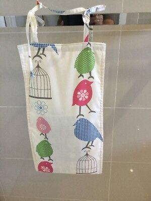 Green Bird, Slim Line, Space Saving, Baby Diaper Nappy Stacker, Handmade, New