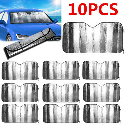 10 x Auto Windshield Sun Shade Car Cover**both side aluminum** Reflective Silver