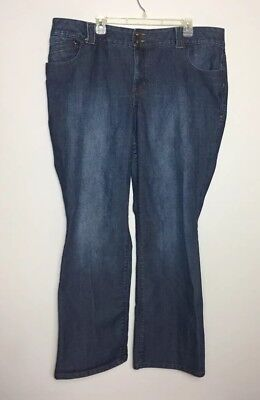 Women's Lane Bryant Boot Cut Jeans Tighter Tummy Technology Size 22