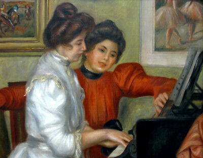 Girl playing piano by Auguste Renoir oil painting HD printed on canvas L1746