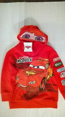 Cars / Lightning Mcqueen / Hoodie / Boys / Sizes 4, 5, 6 and 7.