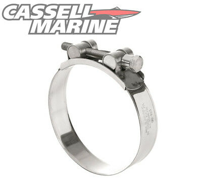 Stainless Steel T Bolt Super Hose Clamp Marine Grade suit Water Exhaust 52-55mm