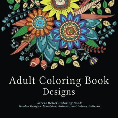 Adult Coloring Book Mandalas Patterns Stress Relief Relaxation Beautiful Design