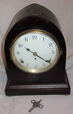 Antique SETH THOMAS Mantel Mantle Beehive Cathedral CLOCK w/ key & pendulum AND