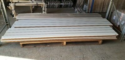 Used second hand sheets of slatwall 2400mm x 1200mm good condition