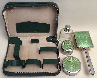 Vintage Travel Vanity Set