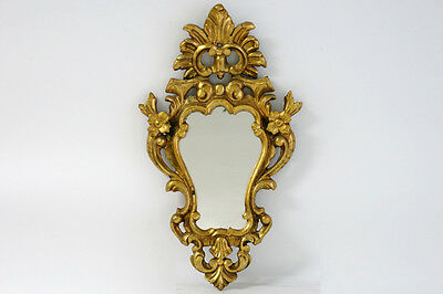 Antique French Small Cute Wood Mirror Louis XVI French 1920