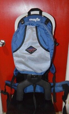 5cc14791c9e Evenflo Trailblazer child Baby Toddler Frame carrier hiking backpack w   Rain Fly