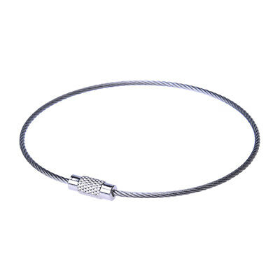10PCS Stainless Steel 20cm Wire Keychain Cable Key Ring J5X8