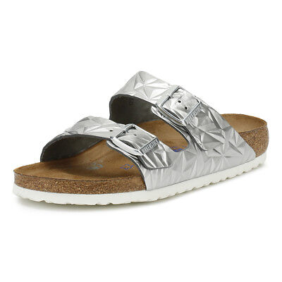 ef72bac21d3 Birkenstock Womens Sandals Spectral Silver Arizona Casual Summer Buckle  Shoes