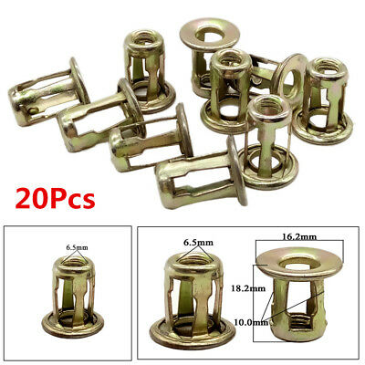 20X Car Metal Screw Base Clamp Trunk nut Front/Back License Plate Fastener Clips