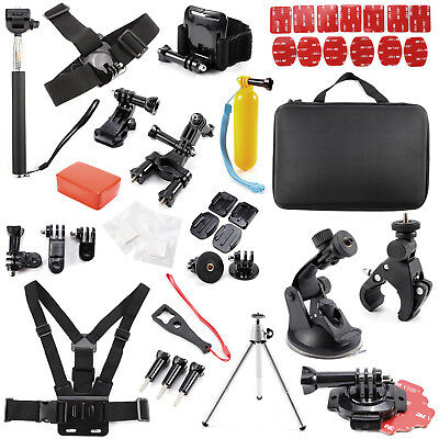 50/53/60 In 1 Action Camera Accessory For GoPro Hero Video Cam Mount Tripod Set