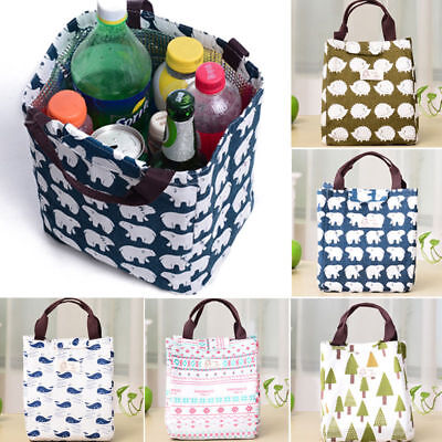 Cute Portable Insulated Thermal Lunch Box Carry Tote Picnic Case Storage Bag New