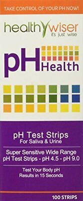 pH Test Strips Tests Body pH Levels for Alkaline & Acid levels Using Saliva and&