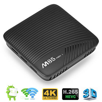 Mecool M8S PRO L 4K Android 7.1 Octa Core TV Box BT4.1 Dual Band WiFi 3G+16G/32G