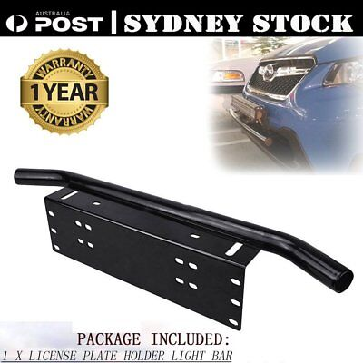 CAR Front Bumper License Plate Mount Bracket LED Work Light Bar UHF Holder QE