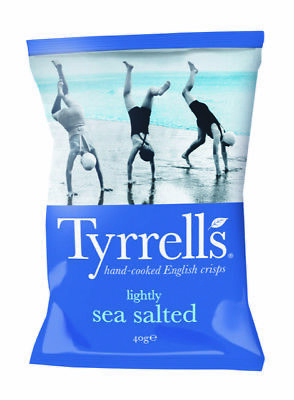 24 x Lightly Sea Salted 40 g Kartoffelchips mit Meersalz Top Preis Tyrrell's