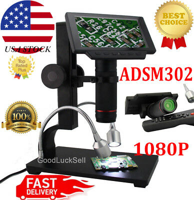 "Andonstar ADSM302 HDMI Microscope 5"" LCD Digital Microscope 1080 for PCB Repair"