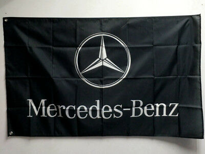 New Black Flag For Mercedes Benz Car Racing Banner Flags 3ft x 5ft 90x150cm