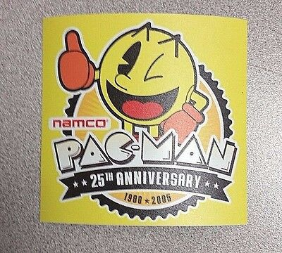 Pac Man 25th anniversary sticker. 3.75 x 3.75. (Buy 3 stickers, GET ONE FREE!)