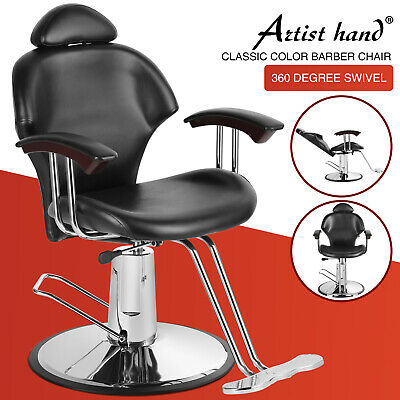 135° Reclining Leather Barbers Chair Shampoo Hairdressing Salon Barber Equipment