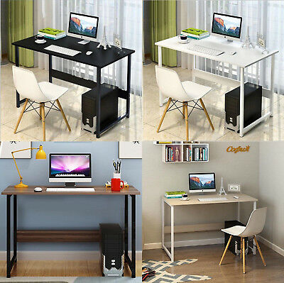 Computer Desk PC Study Writing Table Home Office Workstation MDF Wood Metal Legs