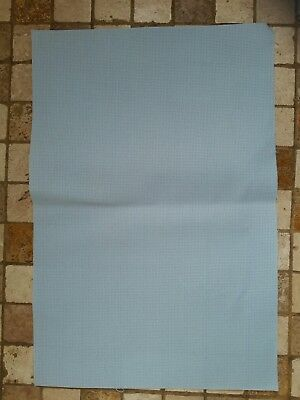 Aida14 count needlework fabric LIGHT BLUE*30cm x 45cm*