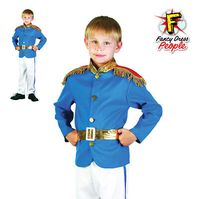 Age 4-12 Boys Prince Charming Royal Fairytale Costume Kids Book Week Fancy Dress