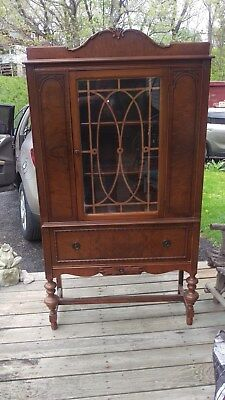 Vintage Antique China Cabinet - Excellent Condition-Original Glass