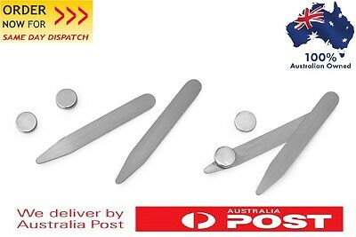 6 Pair Magnetic  Collar Stays / Collar Stay + 12 pc Magnet free *AUSTRALIA*