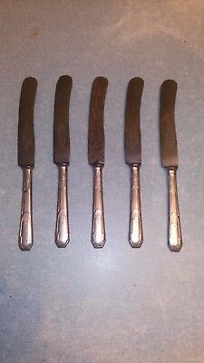 5 anciens couteaux 1910 silvern medal caststeel warranted exhibition bxl