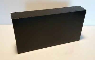 "2"" Hdpe Black Virgin Sheet 6""x11.5"" Cnc Plastic 1919"