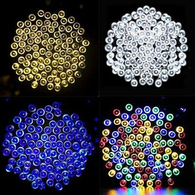 NONMON 100 200 500 LED Solar Power Fairy Lights String Garden Outdoor Xmas Party