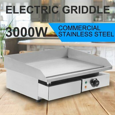 Stainless Steel Electric Cooktop Griddle Grill BBQ Hot Plate Food Oven Maker HQ