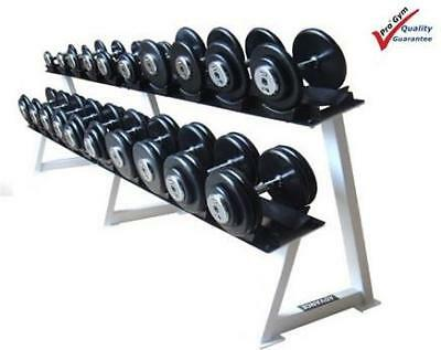 Body Iron 475 kg Commercial Rubber Dumbbell Set with Optional Rack