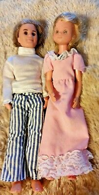 Vintage Mattel Sunshine Family Dolls, Mom & Dad 1973