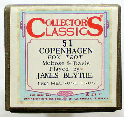 "JAMES BLYTHE ""Copenhagen"" COLLECTORS CLASSICS 51 [PIANO ROLL]"