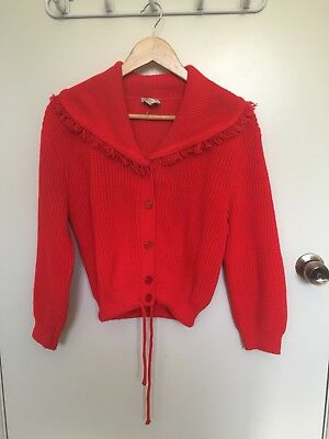 Knitted Vintage Red Cardigan