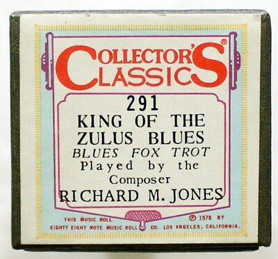 "RICHARD M. JONES ""King Of The Zulus Blues"" COLLECTORS CLASSICS 291 [PIANO ROLL]"