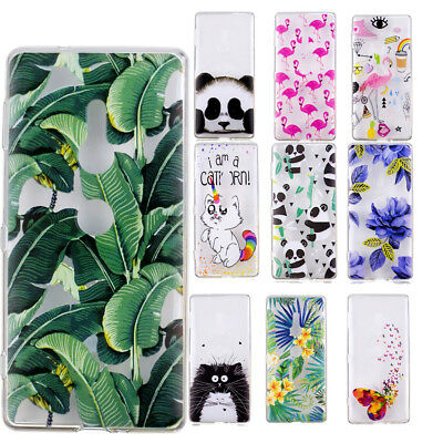 Cute Patterned Ultra Thin Clear Soft Gel Silicone Case Cover For Sony Xperia XZ2