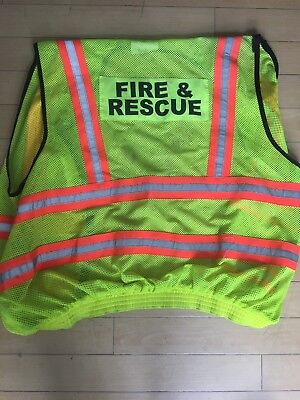Fire And Rescue Reflective Vest. Used. Large. Ex Condition