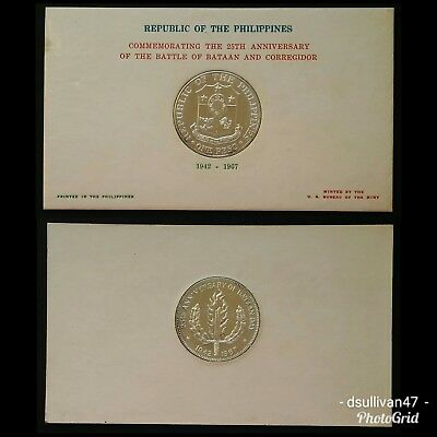 (1967) Philippines Peso 25th Anniversary of the Battle of Bataan and Corregidor