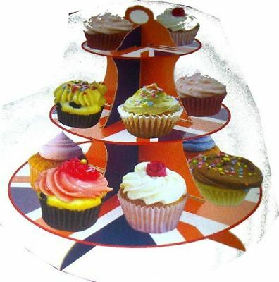 Ideal 3-Tier Cupcake Stand, Union Flag Design