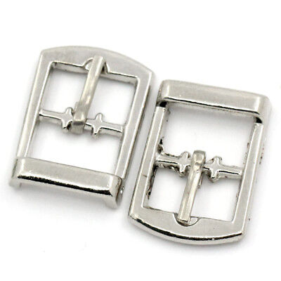 Pack Of 20 Small Alloy Buckles Nickel Plated