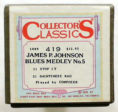 "JAMES P. JOHNSON ""Blues Medley No. 5"" COLLECTORS CLASSICS 419 [PIANO ROLL]"