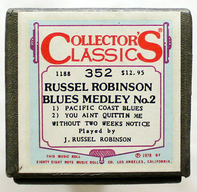 "J. RUSSEL ROBINSON ""Blues Medley No. 2"" COLLECTORS CLASSICS 352 [PIANO ROLL]"
